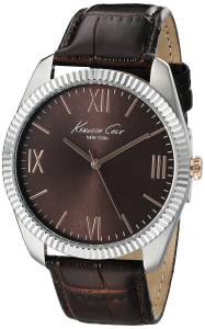 [ケネスコール]Kenneth Cole New York SilverTone Watch with Brown Dial and Brown Strap 10019681