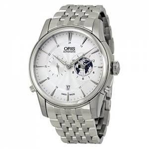 [オリス]Oris  Artelier GMT Automatic Silver White Dial Stainless Steel Watch 690-7690-4081MB
