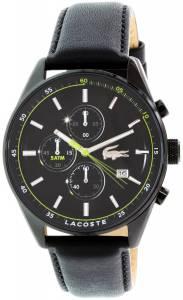 [ラコステ]Lacoste 腕時計 Dublin Black Leather Quartz Watch 2010785 メンズ
