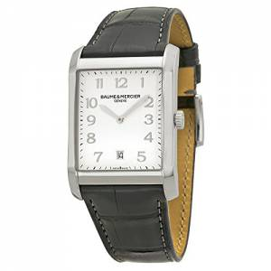 [ボーム&メルシエ]Baume & Mercier  New Hampton Silver Dial Black Leather Watch MOA10154