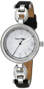 [ノーティカ]Nautica  NLC 101 Analog Display Quartz Black Watch NAD11505M レディース