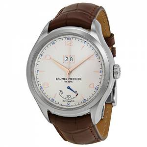 [ボーム&メルシエ]Baume & Mercier Baume et Mercier Clifton Automatic Silver Dial Brown 10205
