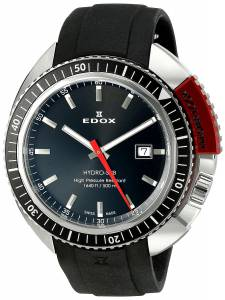 [エドックス]Edox  Hydro Sub Analog Display Watch with Black Band 53200 3NRCA NIN メンズ