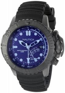 [ノーティカ]Nautica NMX Dive Style Blue Crystal Analog Display Analog Quartz Black NAD52500G
