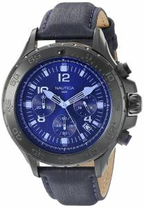 [ノーティカ]Nautica NST Chrono Blue Crystal Analog Display Analog Quartz Blue Watch NAD21008G