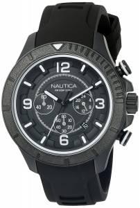 [ノーティカ]Nautica  NST 450 Analog Display Analog Quartz Black Watch NAD19529G メンズ