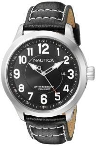 [ノーティカ]Nautica  NCC 01 Date Analog Display Analog Quartz Black Watch NAD10004G メンズ