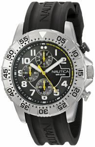 [ノーティカ]Nautica  NSR 104 Analog Display Analog Quartz Black Watch NAD16510G メンズ