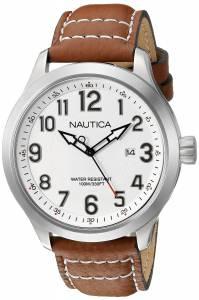 [ノーティカ]Nautica  NCC 01 Date Analog Display Analog Quartz Tan Watch NAD10005G メンズ
