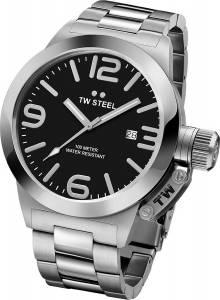 [ティーダブルスティール]TW Steel  Analog Display Quartz Silver Watch CB1 メンズ