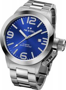[ティーダブルスティール]TW Steel  Analog Display Quartz Silver Watch CB11 メンズ