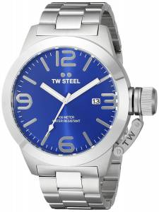 [ティーダブルスティール]TW Steel  Stainless Steel Watch with Blue Dial CB12 メンズ