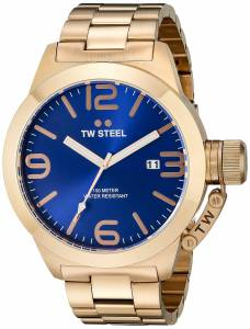 [ティーダブルスティール]TW Steel Rose GoldTone Stainless Steel Watch with Blue Dial CB182