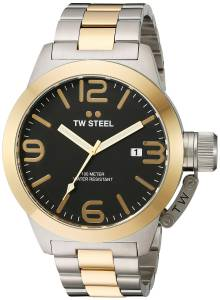 [ティーダブルスティール]TW Steel  Analog Display Quartz Two Tone Watch CB42 メンズ