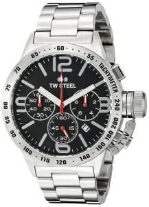 [ティーダブルスティール]TW Steel  Analog Display Quartz Silver Watch CB8 メンズ