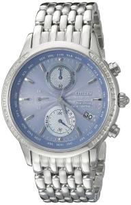 [シチズン]Citizen  World Chronograph AT Analog Display Japanese Quartz Silver Watch FC5000-51L