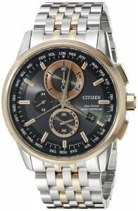 [シチズン]Citizen World Chronograph AT Analog Display Japanese Quartz Two Tone Watch AT8116-57E
