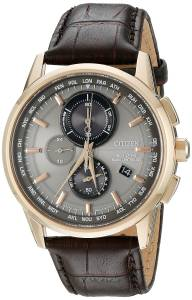 [シチズン]Citizen  World Chronograph AT Analog Display Japanese Quartz Silver Watch AT8113-04H