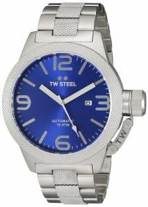 [ティーダブルスティール]TW Steel  Analog Display Quartz Silver Watch CB16 メンズ