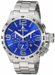 [ティーダブルスティール]TW Steel  Analog Display Quartz Silver Watch CB14 メンズ