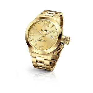[ティーダブルスティール]TW Steel  Analog Display Quartz Gold Watch CB101 メンズ