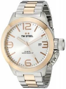 [ティーダブルスティール]TW Steel  Analog Display Quartz Two Tone Watch CB122 メンズ