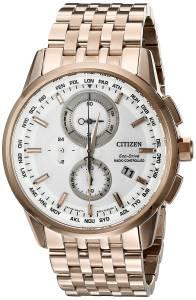 [シチズン]Citizen World Chronograph AT Analog Display Japanese Quartz Rose Gold Watch AT8113-55A