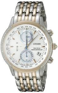 [シチズン]Citizen World Chronograph AT Analog Display Japanese Quartz Two Tone Watch FC5006-55A