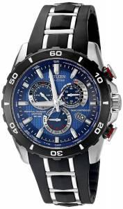 [シチズン]Citizen  Perpetual Chrono AT Analog Display Japanese Quartz Black Watch AT4021-02L