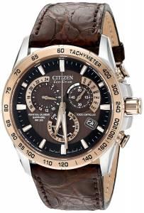 [シチズン]Citizen  Perpetual Chrono AT Analog Display Japanese Quartz Brown Watch AT4001-00X