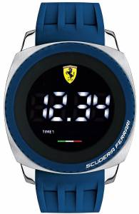 [フェラーリ]Ferrari  Scuderia Aerodinamico Digital Dial Silicone Quartz Watch 830226 メンズ