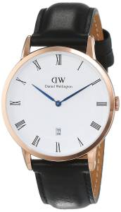 [ダニエル ウェリントン]Daniel Wellington Dapper Sheffield Rosegold 38mm Leather 1101DW