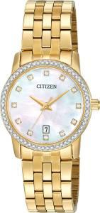 [シチズン]Citizen 腕時計 Quartz Gold Tone Stainless Steel Watch Case EU6032-51D [逆輸入]