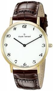 [クロードベルナール]claude bernard Gents Slim Line Analog Display Swiss Quartz 20202 37J BB