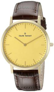 [クロードベルナール]claude bernard Gents Slim Line Analog Display Swiss Quartz 20202 37J DI