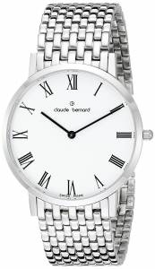 [クロードベルナール]claude bernard Gents Slim Line Analog Display Swiss Quartz 20202 3M BR