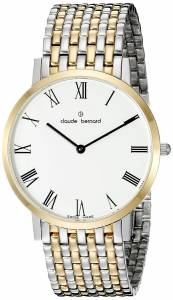 [クロードベルナール]claude bernard Gents Slim Line Analog Display Swiss 20202 357JM BR