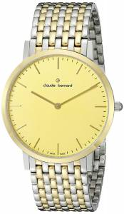 [クロードベルナール]claude bernard Gents Slim Line Analog Display Swiss 20202 357JM DI