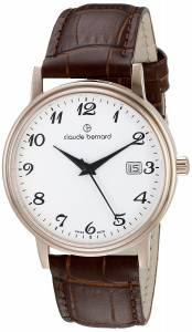 [クロードベルナール]claude bernard Classic Gents Analog Display Swiss Quartz 53007 37R BB