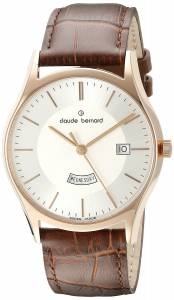 [クロードベルナール]claude bernard Classic Analog Display Swiss Quartz Brown 84200 37R AIR