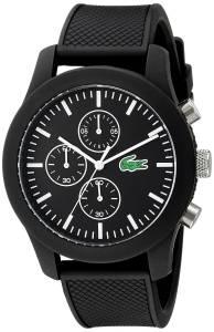 [ラコステ]Lacoste 腕時計 12.12 Analog Display Japanese Quartz Black Watch 2010821 メンズ