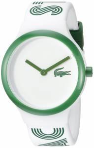 [ラコステ]Lacoste Goa Analog Display Japanese Quartz White/Green Watch 2020104 2020104