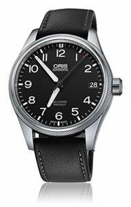 [オリス]Oris  Big Crown Propilot Automatic Black Dial Black Leather Watch 75176974164LS