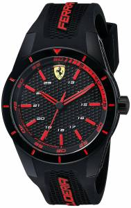 [フェラーリ]Ferrari  REDREV Analog Display Japanese Quartz Black Watch 0830245 メンズ