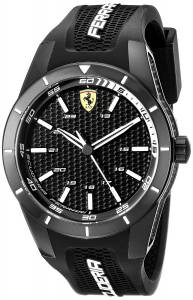 [フェラーリ]Ferrari  REDREV Analog Display Japanese Quartz Black Watch 0830249 メンズ
