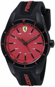 [フェラーリ]Ferrari  REDREV Analog Display Japanese Quartz Black Watch 0830248 メンズ