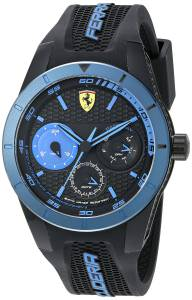 [フェラーリ]Ferrari  REDREV T Analog Display Japanese Quartz Black Watch 0830256 メンズ