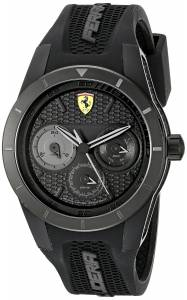[フェラーリ]Ferrari  REDREV T Analog Display Japanese Quartz Black Watch 0830259 メンズ