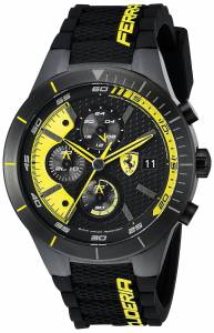 [フェラーリ]Ferrari  REDREV EVO Analog Display Japanese Quartz Black Watch 0830261 メンズ