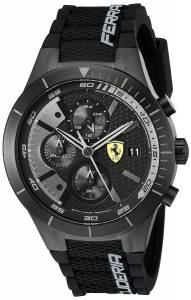 [フェラーリ]Ferrari  REDREV EVO Analog Display Japanese Quartz Black Watch 0830262 メンズ